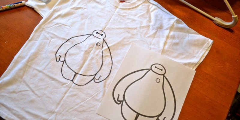 Make your own Disney Baymax t-shirt