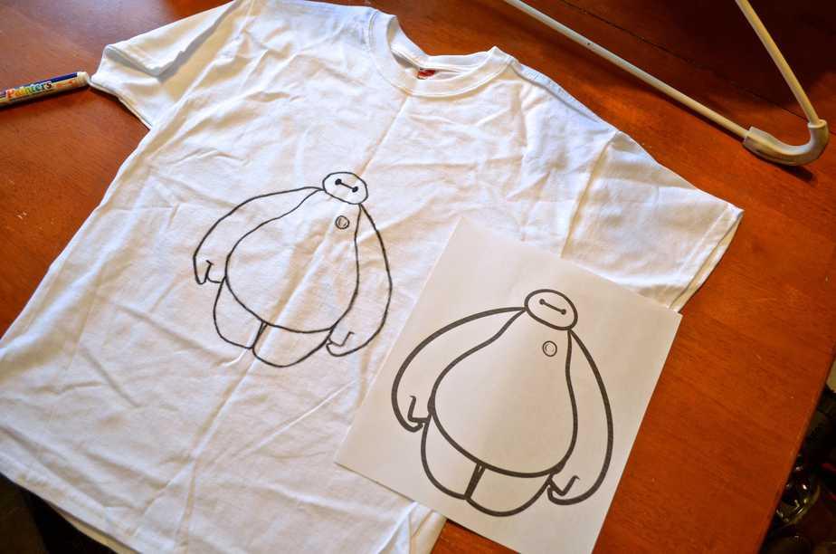 973202461 DIY Baymax Big Hero 6 Disney T-Shirt in UNDER 5 minutes!