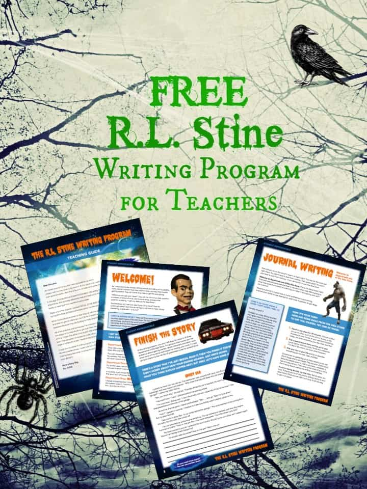 Free R.L. Stine Writing Program for Teachers