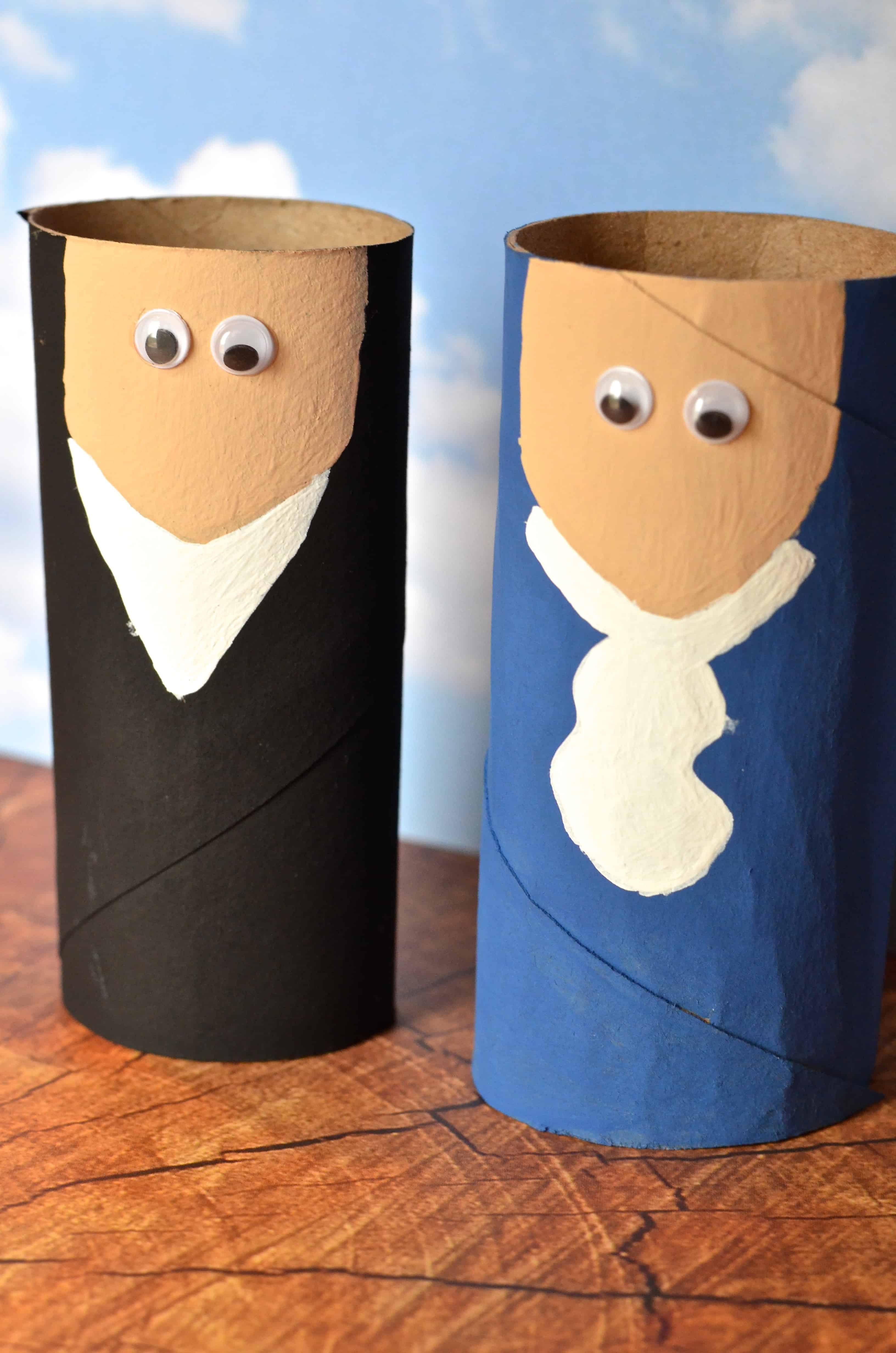 Abraham Lincoln Toilet Paper Roll Craft