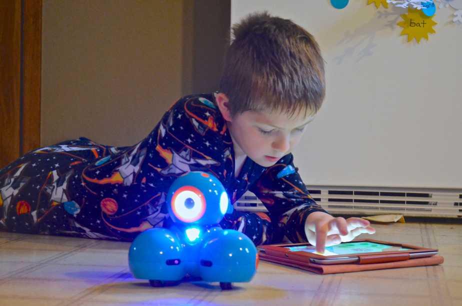 Data analyzing robot youth lifeform