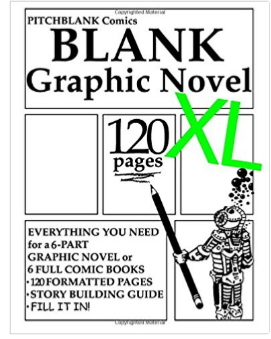 Blank Graphic Novel XL Book
