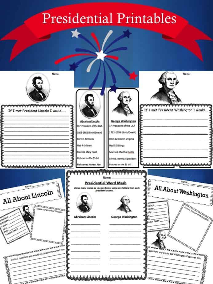 free president printables