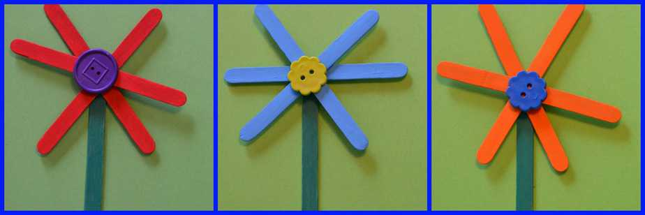 Easy Flower Craft Stick Craft For Kids