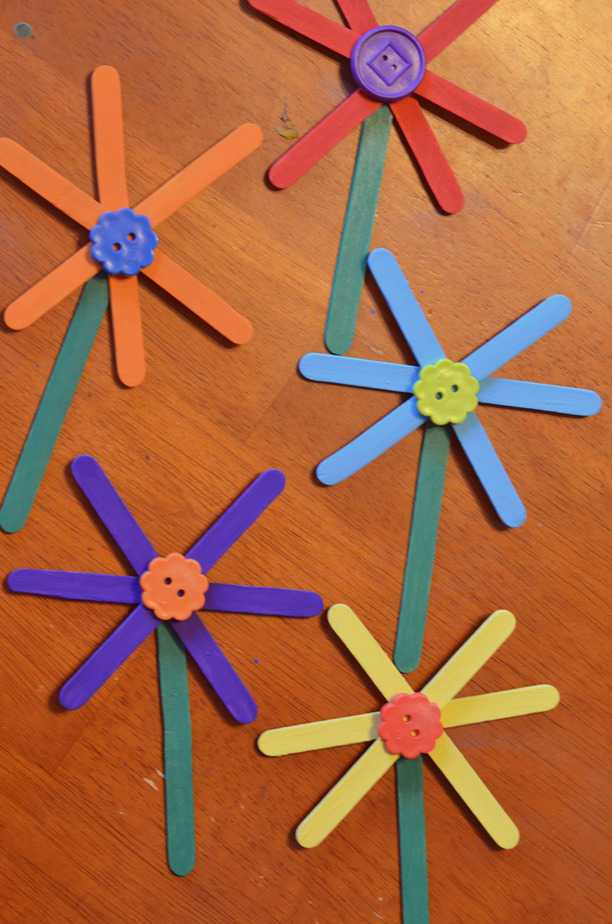 popsicle stick crafts for kids easy flower craft stick craft for 7063
