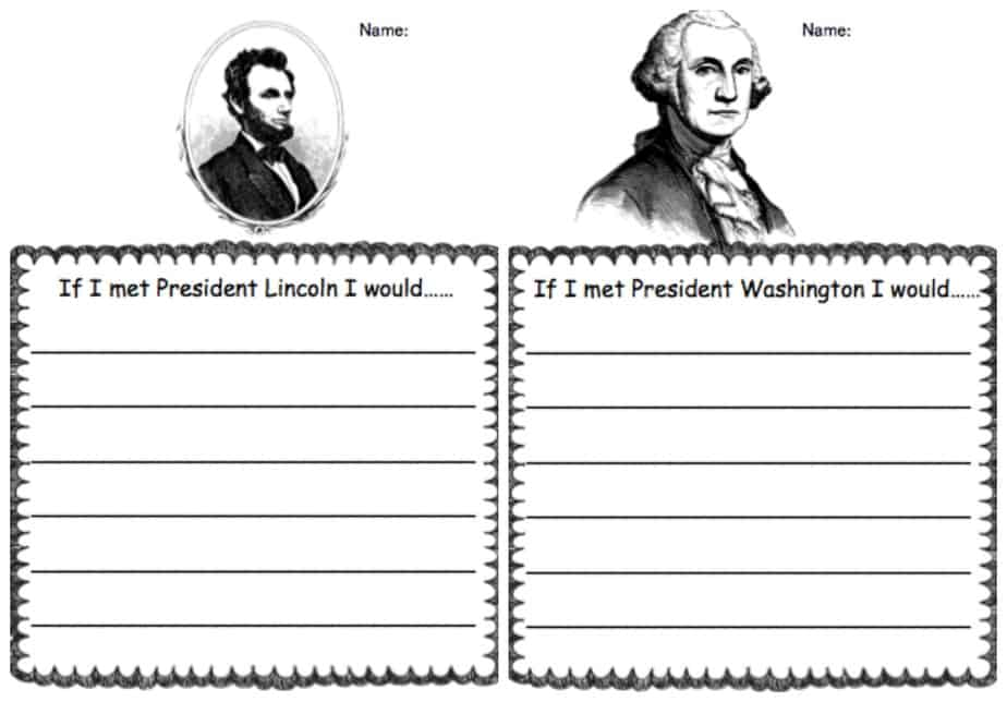 Presidents Printables - Writing Prompts, Word Games, Bookmarks ...