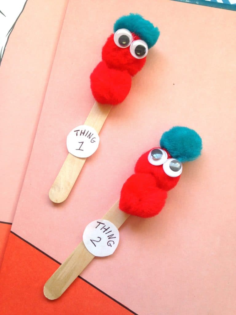dr seuss thing 1 thing 2 puppets