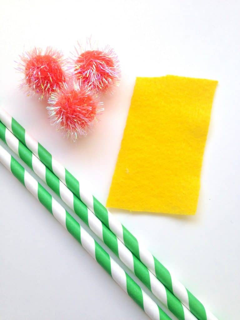dr seuss lorax inspired straws crafts for kids