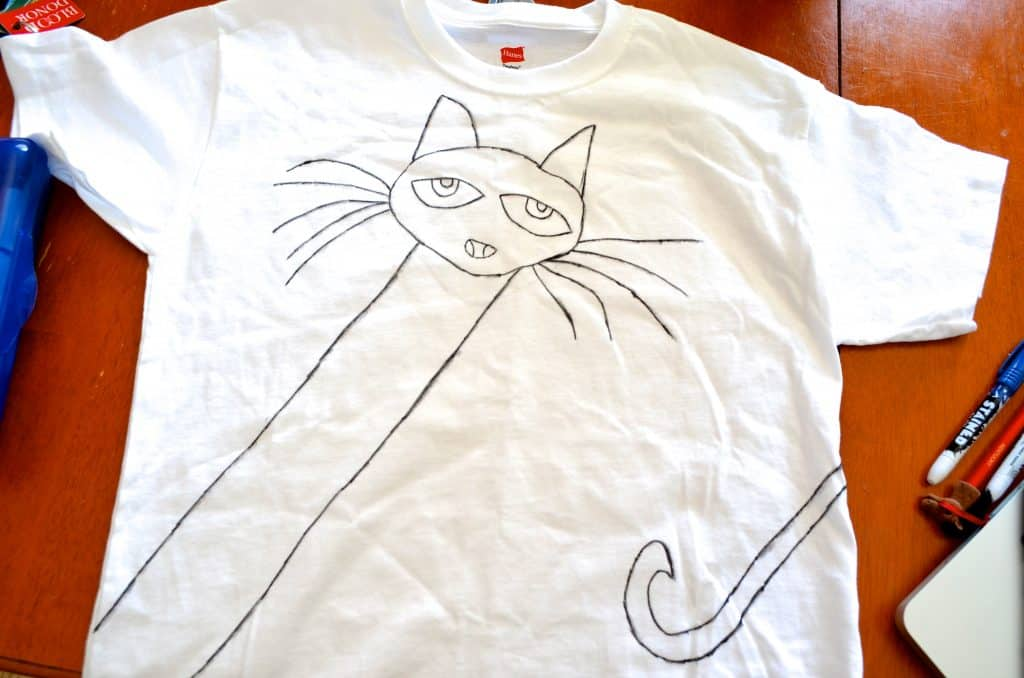 hand drawn Pete the Cat kids Tshirt