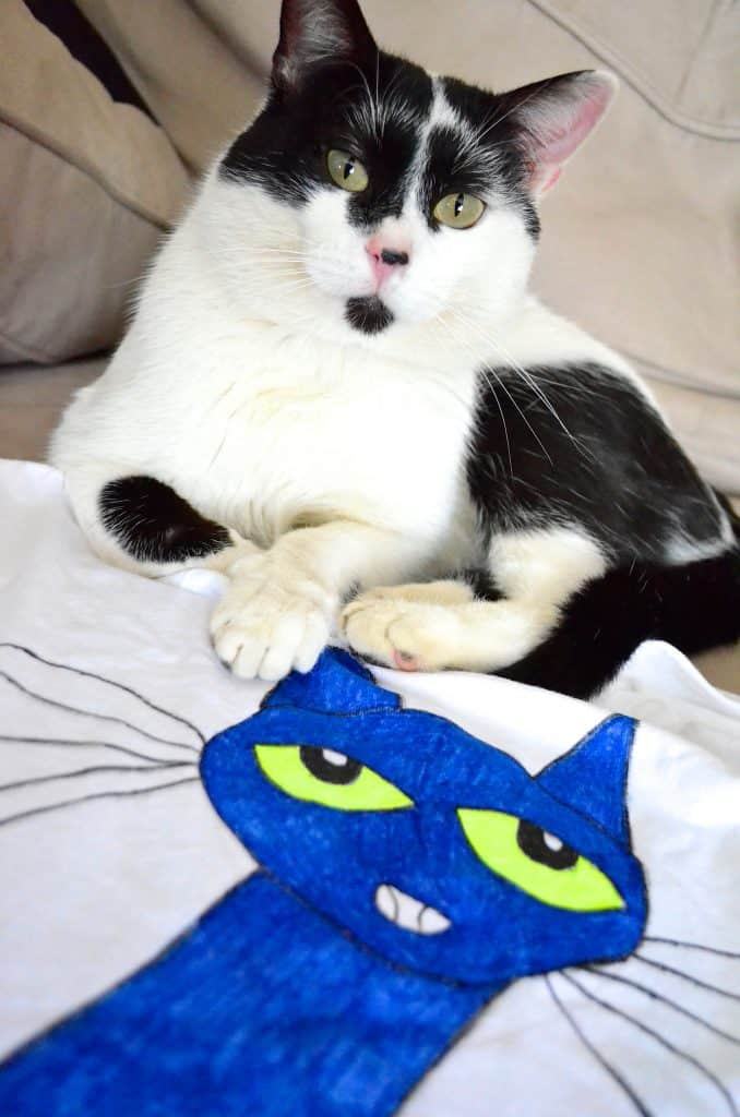 Pete the Cat kids Tshirt with kitty
