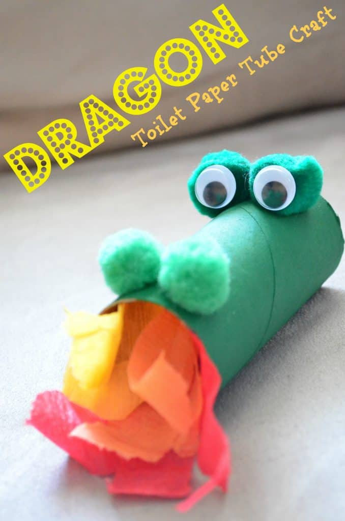 Dragon Toilet Paper Tube Kids Craft - Chinese Lunar New Year