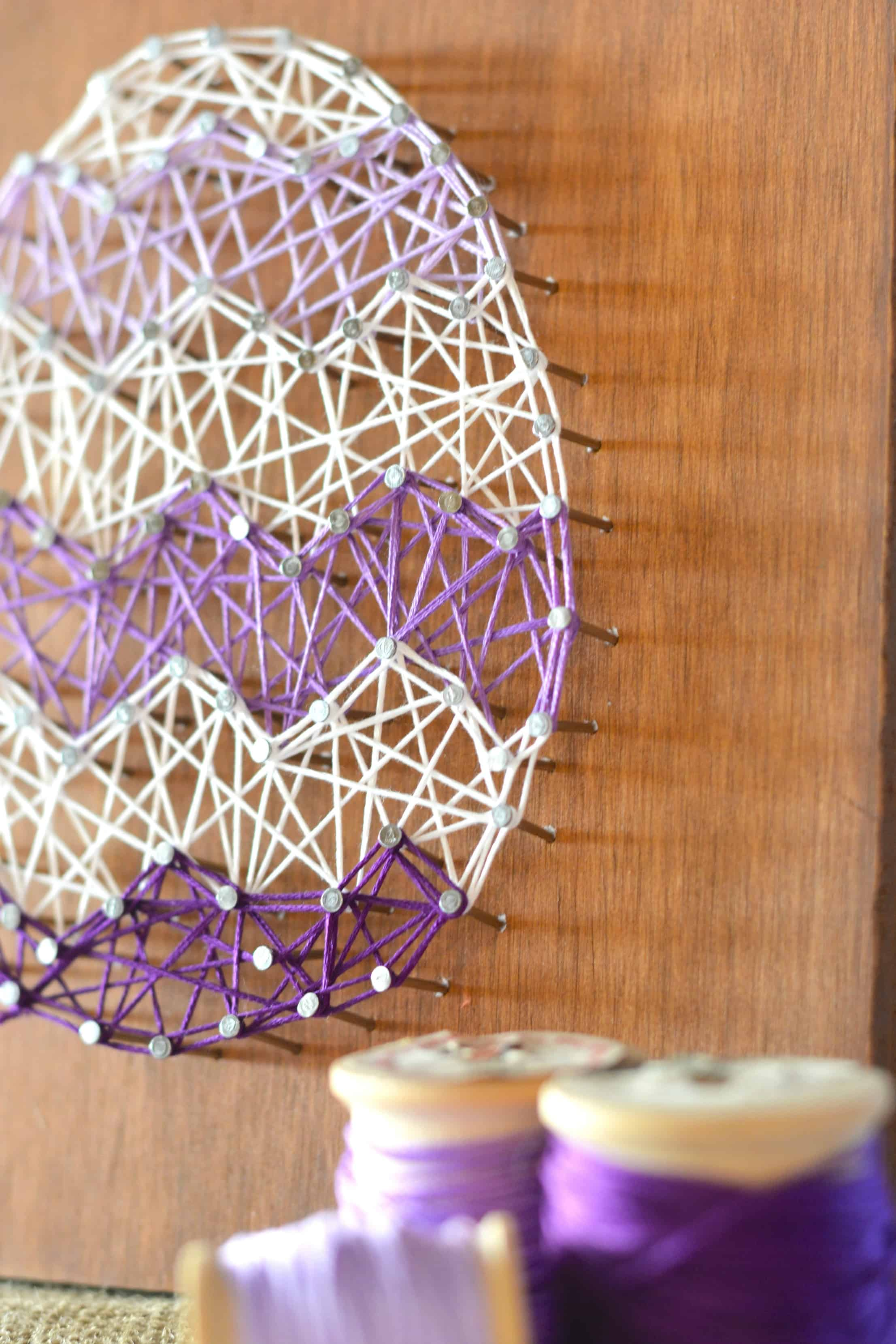 diy easter egg string art home decor craft