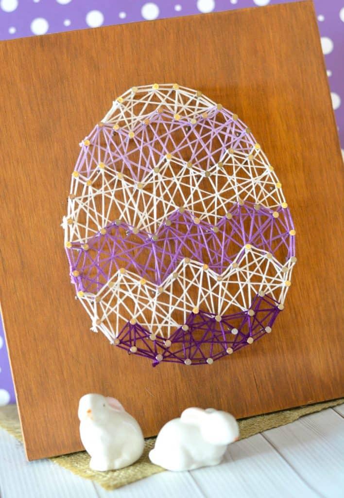 DIY Easter Egg String Art Home Decor Craft