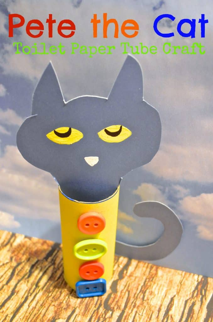 pete the cat toilet paper tube craft for kids