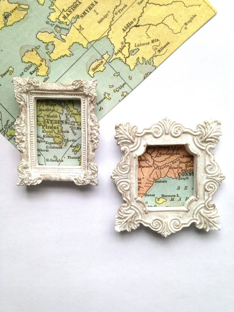 Map Magnets Craft Tutorial