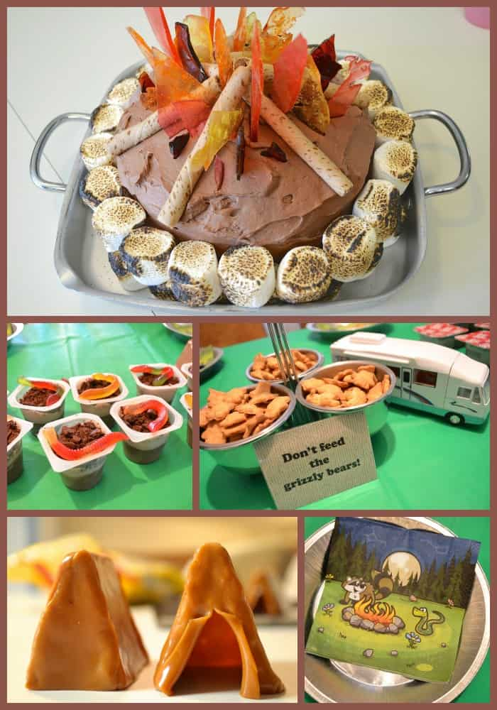 Campfire Camping Birthday Party Ideas For Kids Cake Tutorial
