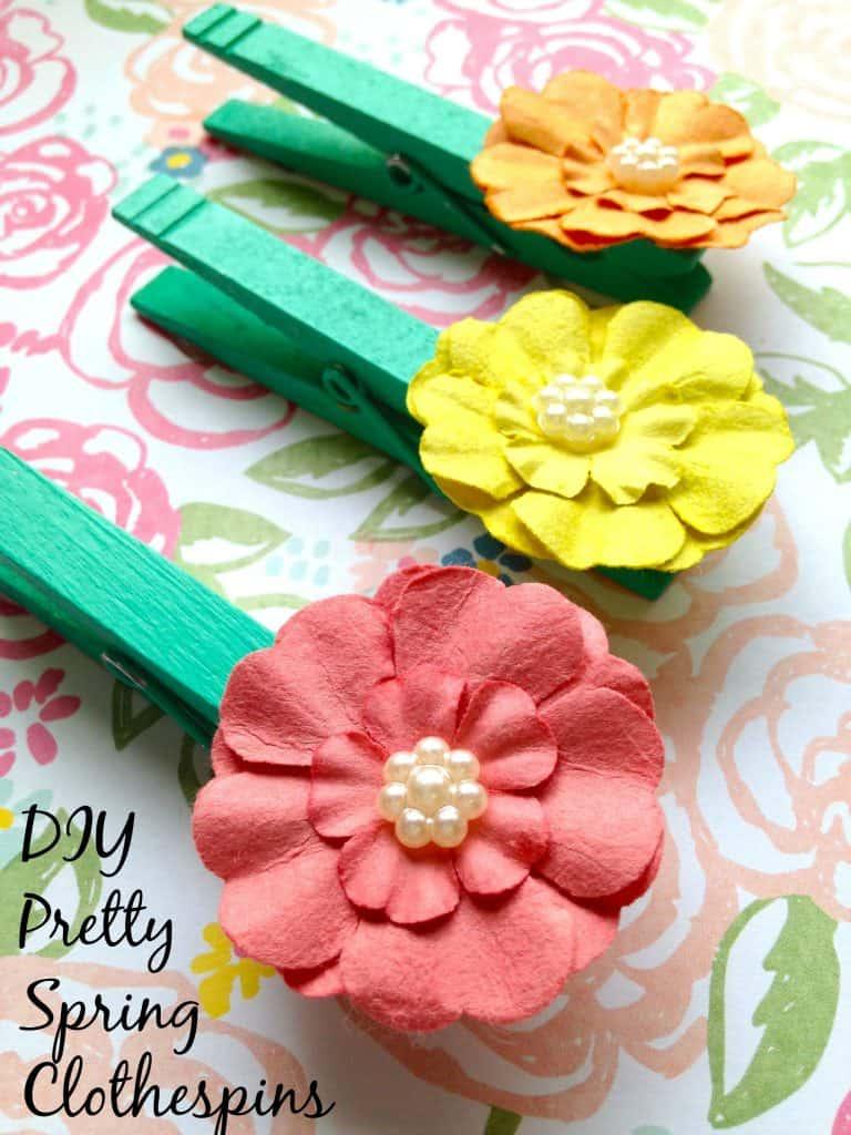 Pretty Spring Diy Clothespins Craft Classroom Decor