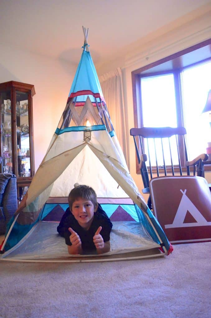 camping birthday party decoration teepee tent