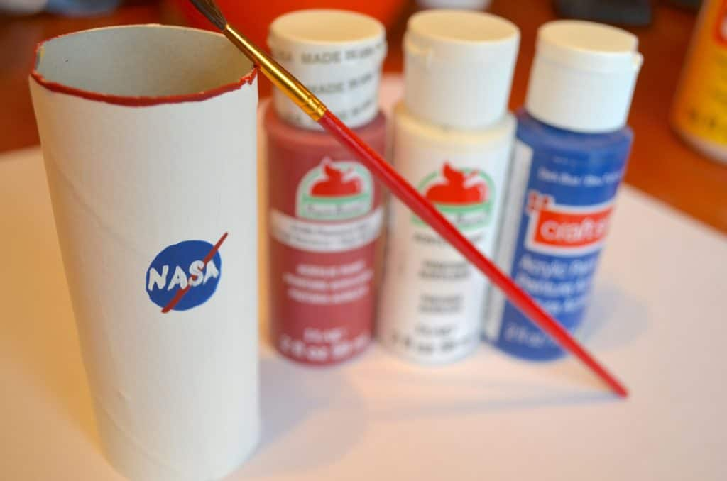 Astronaut Toilet Paper Tube Space Craft