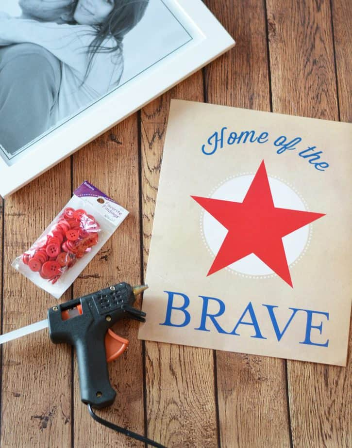 Home of the Brave Art Wall Decor Project with FREE Printable