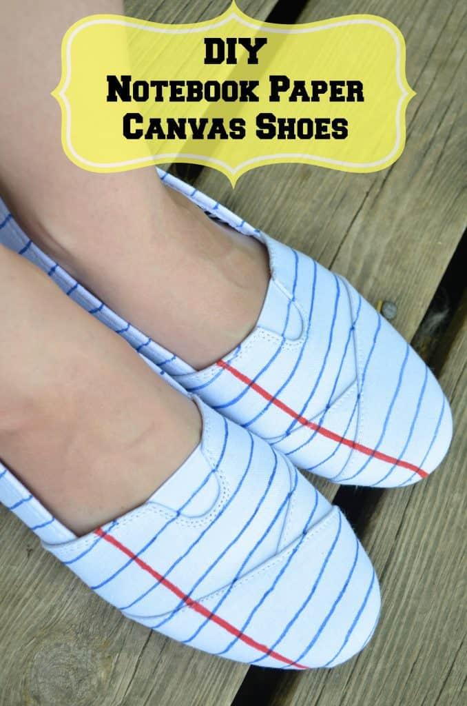 1eb0de3b43298 DIY Notebook Paper Fashion Teacher Shoes on a Budget