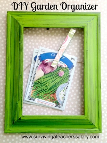 DIY Garden Seed Packet Organizer