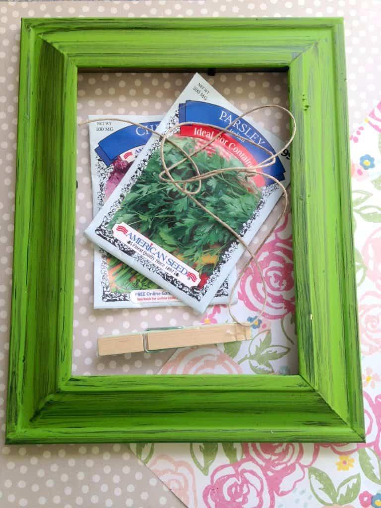 DIY Garden Seed Packet Organizer