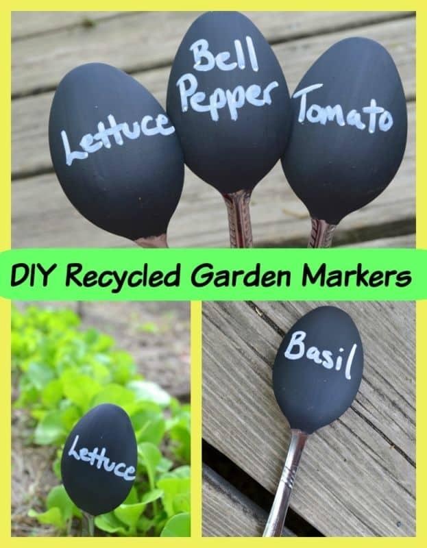 DIY Chalkboard Paint Spoon Garden Markers