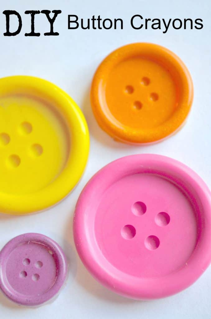 recycled melted crayon buttons
