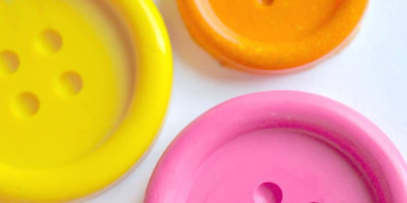 DIY Groovy Button Crayons Tutorial for Kids