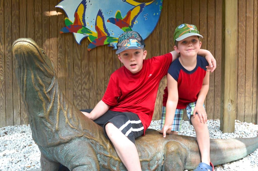 two boys at Lowry Park Zoo Tampa Florida