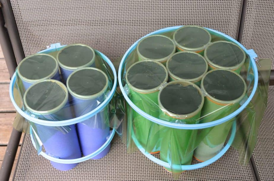 two Recycled Musical Instrument drums