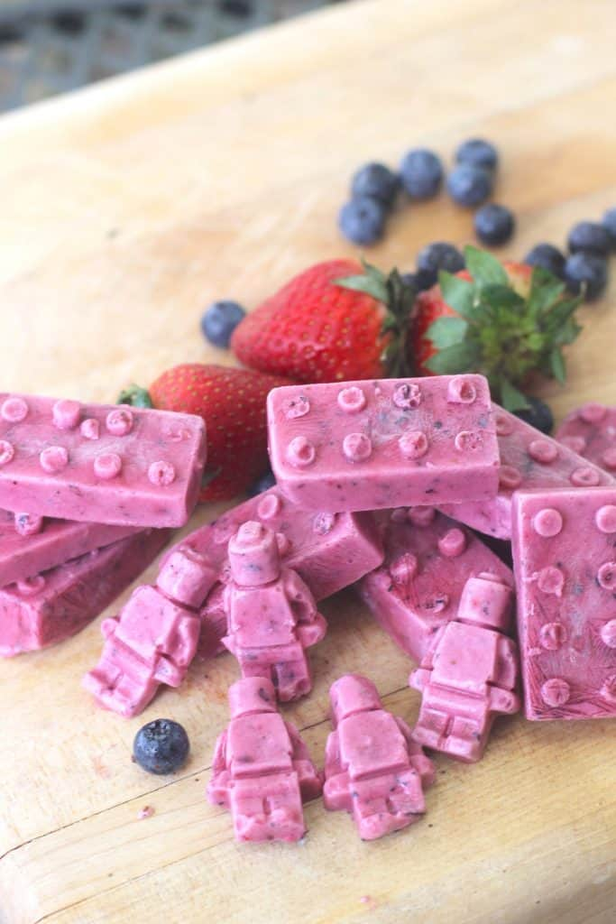 Frozen Yogurt Bites Recipe for Kids: LEGO Inspired