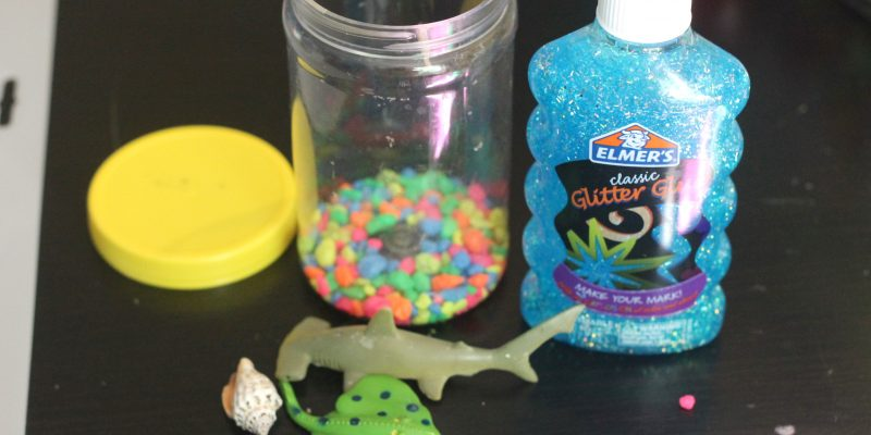 Shark Week Sensory Jar