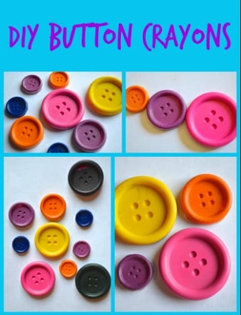 DIY Button Crayons Tutorial for Kids