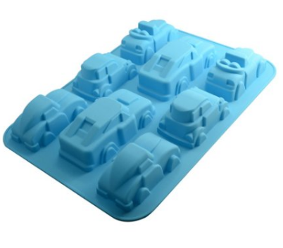 cars and trucks silicone mold for crayons