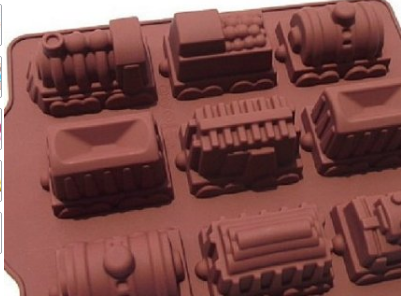 Trains Silicone Mold for Crayons