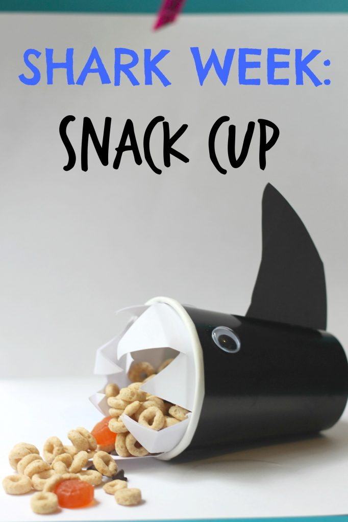 shark cup for kids snacks