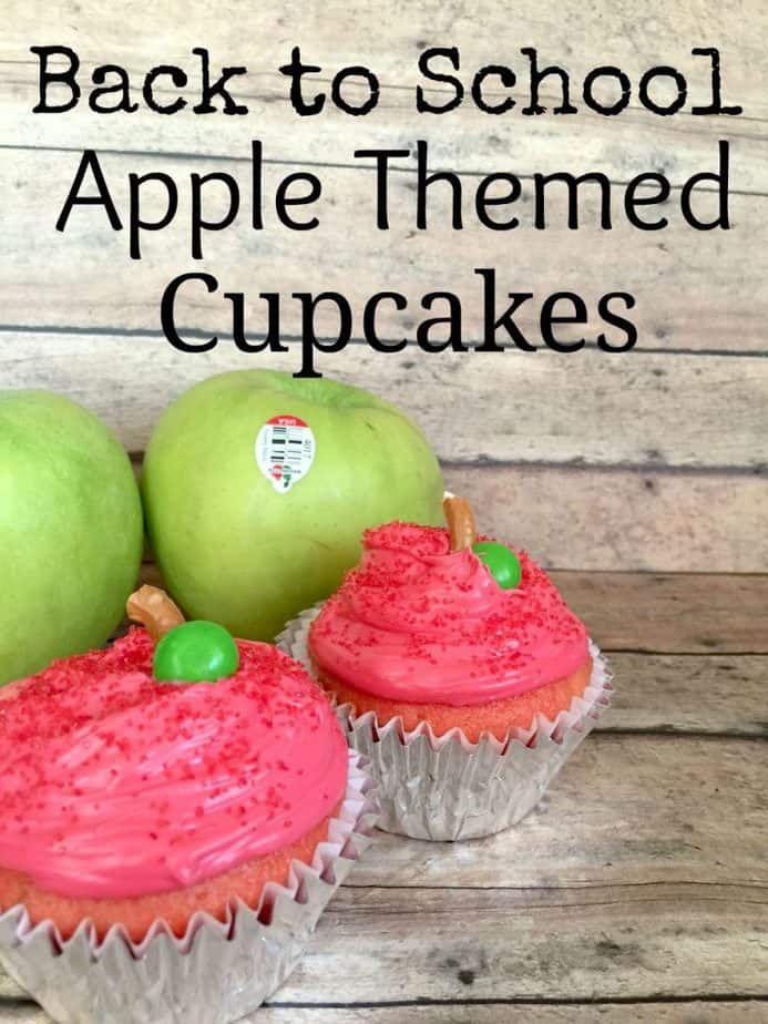 apple back to school cupcakes