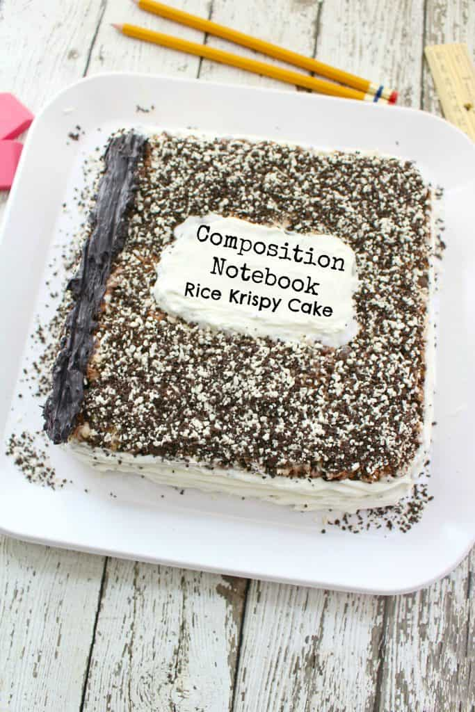 Back to School Composition Notebook Cake