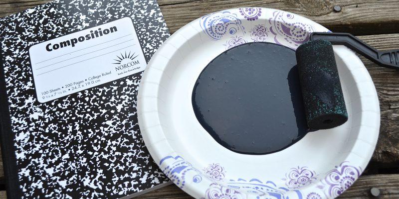 DIY Back to School Fashion Customized Chalkboard Notebook