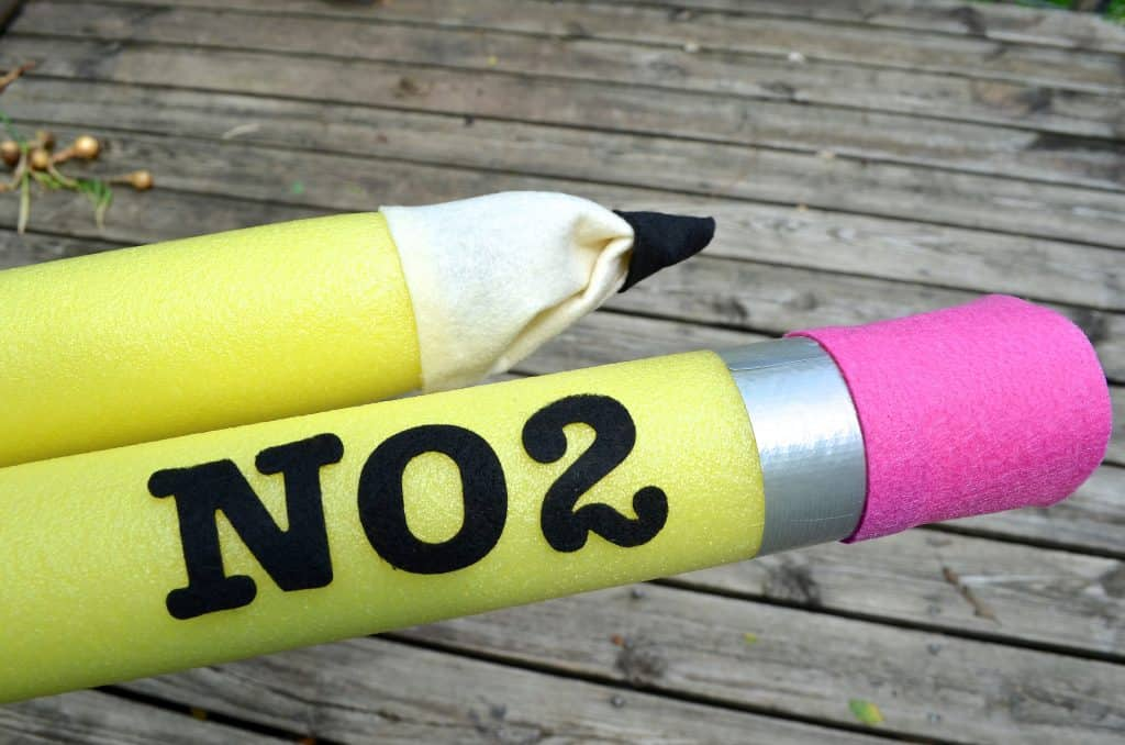 NO 2 Pencil Pool Noodle craft
