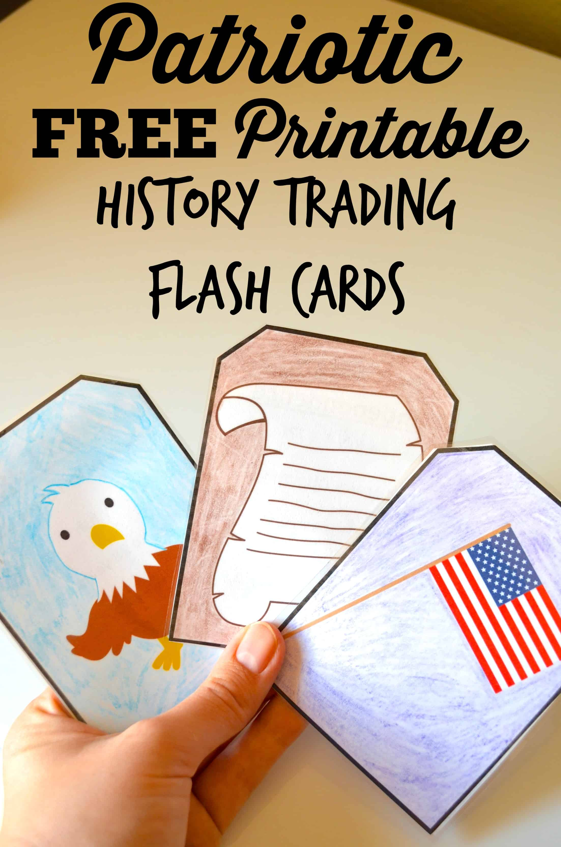 Free Printable Patriotic History Trading Flashcards