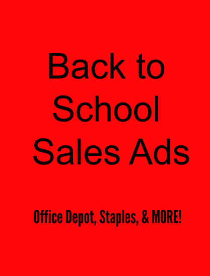 Back to School Sales Ads