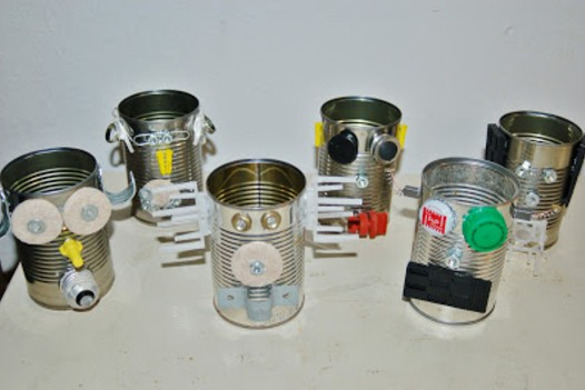 Recycled Robot Soup Cans