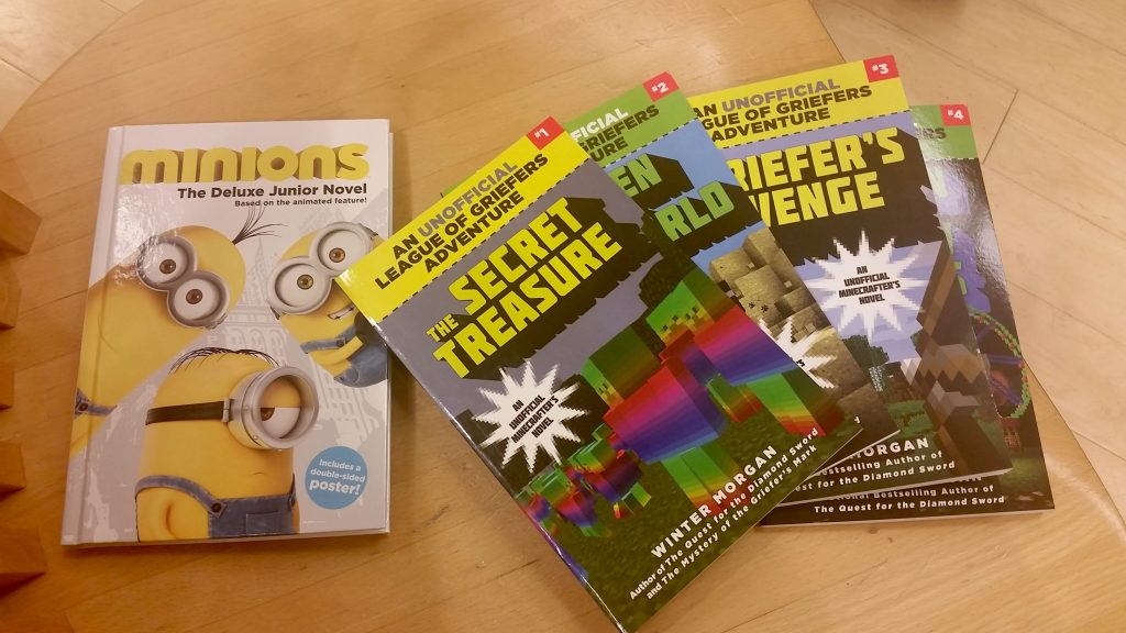 Minecraft books at Barnes & Noble