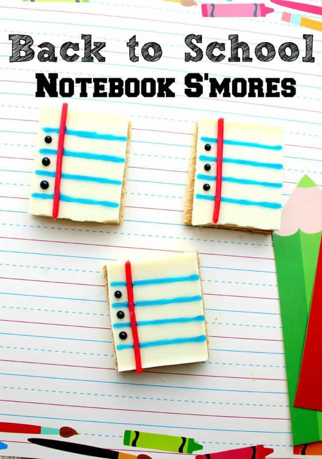 notebook paper smores back to school recipe