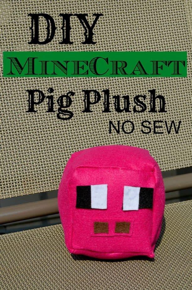 DIY Minecraft Pig Plush No Sew Tutorial