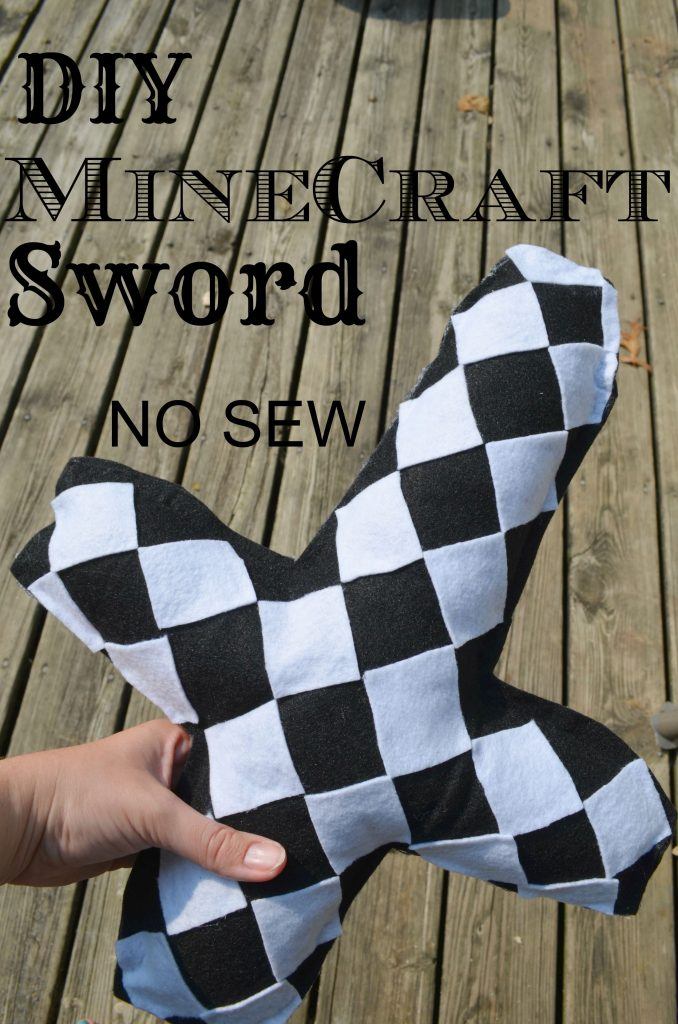 DIY Minecraft Sword Plush Toy NO SEW Tutorial