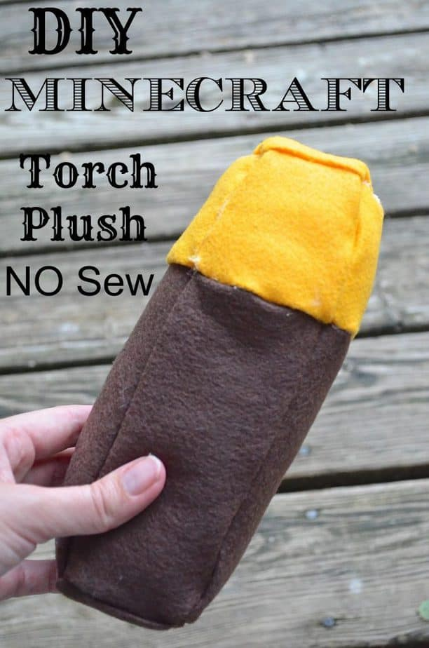 DIY Minecraft Torch Plush - NO SEW Tutorial